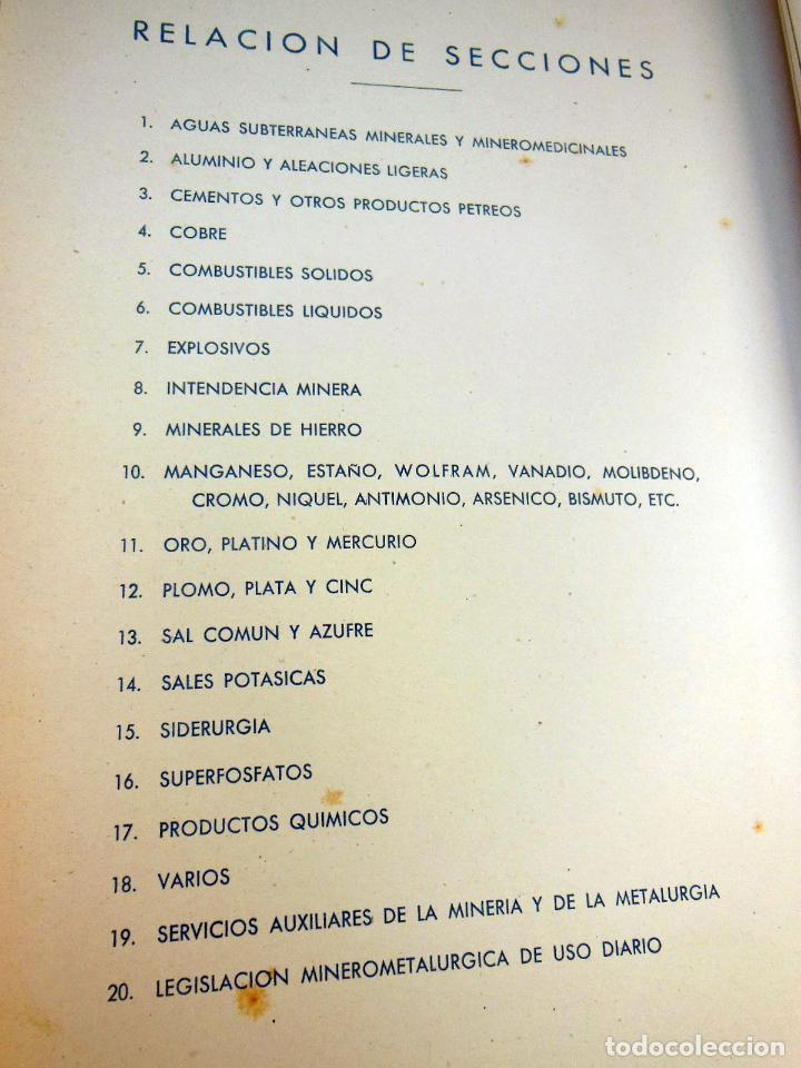 Libros de segunda mano de Ciencias: ANUARIO DE MINERÍA Y METALURGIA 1946 - 47 - Foto 2 - 262940995