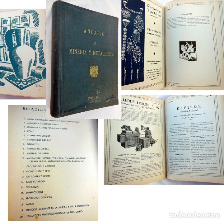 ANUARIO DE MINERÍA Y METALURGIA 1946 - 47 (Libros de Segunda Mano - Ciencias, Manuales y Oficios - Física, Química y Matemáticas)