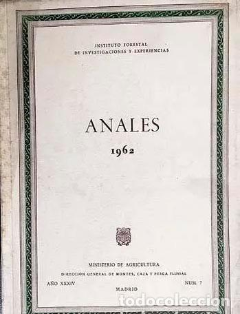 Libros de segunda mano: Anales 1962 (Plantaciones de eucaliptos; Micorrizas en pinos; Resinas; Etc.) instituto Forestal - Foto 2 - 263235505