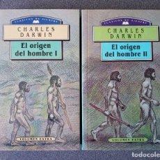 Libros de segunda mano: EL ORIGEN DEL HOMBRE CHARLES DARWIN. Lote 265476024