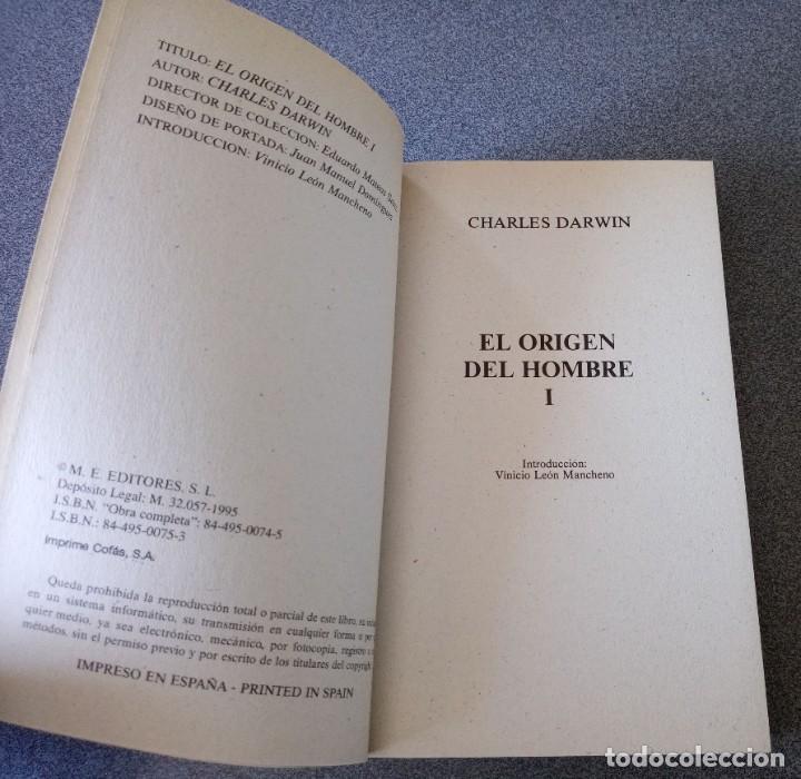 Libros de segunda mano: El Origen del Hombre Charles Darwin - Foto 4 - 265476024