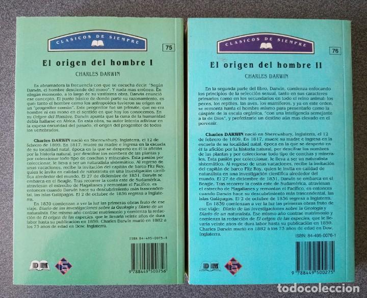 Libros de segunda mano: El Origen del Hombre Charles Darwin - Foto 6 - 265476024