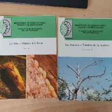 Libros de segunda mano: 4 FOLLETOS. PLAGAS Y ENFERMEDADES DE LOS FRUTALES. LA SILA. LA ZAUZERA. LA CEMIOSTMA. EL PIOJO BLANC. Lote 266863294