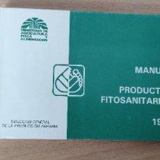 Libros de segunda mano: MANUAL DE PRODUCTOS FITOSANITARIOS. 1990. MINSTERIO DE AGRICULTURA, PESCA Y ALIMENTACIÓN. Lote 266995599