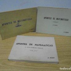 Libros de segunda mano de Ciencias: APUNTES DE MATEMATICAS. 3 LIBROS. A. BONET. VER FOTOGRAFIAS ADJUNTAS. Lote 268837749