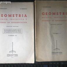 Livres d'occasion: GEOMETRIA METRICA PEREZ BEATO.SANCHEZ MARMOL 2 TOMOS CUBICAS Y CUARTICAS. Lote 269803888