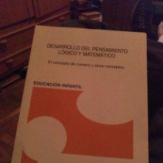Libros de segunda mano de Ciencias: DESARROLLO DEL PENSAMIENTO LÓGICO Y MATEMÁTICO. 2012. Lote 272139843