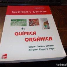 Livres d'occasion: CUESTIONES Y EJERCICIOS DE QUÍMICA ORGÁNICA. EMILIO QUIÑOÁ CABANA. RICARDO RIGUERA VEGA. 2ª ED. MCGR. Lote 273634953
