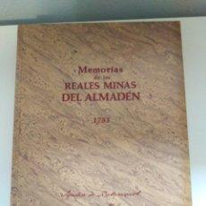 Libros de segunda mano: MEMORIAS DE LAS REALES MINAS DEL ALMADEN 1783 AGUSTIN DE BETANCOURT Y MOLINA. Lote 273968633