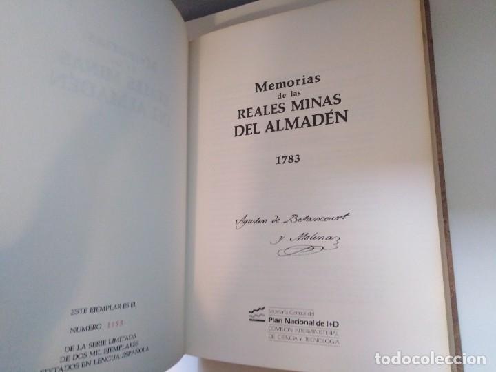 Libros de segunda mano: MEMORIAS DE LAS REALES MINAS DEL ALMADEN 1783 AGUSTIN DE BETANCOURT Y MOLINA - Foto 10 - 273968633