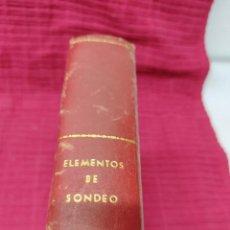 Livros em segunda mão: LIBRO DE ELEMENTOS DE SONDEO.GEOLOGIA MINERIA...VER FOTOS RARO... Lote 275033653