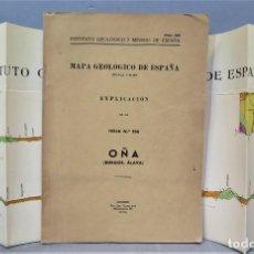 Libros de segunda mano: MAPA GEOLOGICO DE ESPAÑA. EXPLICACION DE LA HOJA 136. BURGOS ALAVA. CON MAPA. Lote 275708838