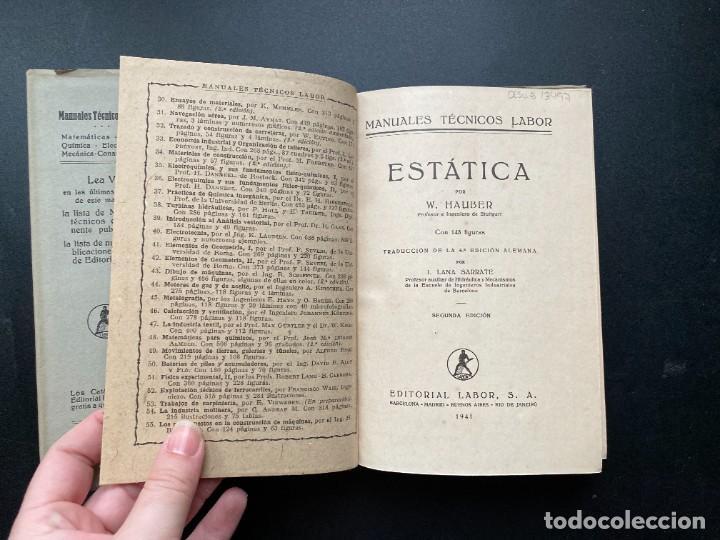 Libros de segunda mano de Ciencias: ESTADISTICA. W. HAUBER. ED. LABOR. 2ªED. BARCELONA, 1941. PAGS: 291 - Foto 3 - 277073458