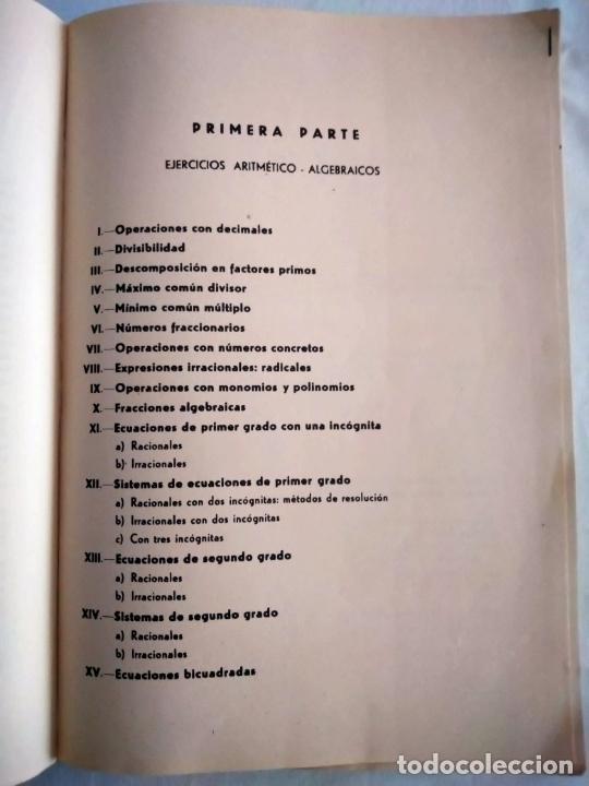 Libros de segunda mano de Ciencias: PROBLEMAS AUTODIDÁCTICOS. GRADO ELEMENTAL. ANTONIO INIESTA. AFRODISIO AGUADO, 1964. - Foto 3 - 277074068