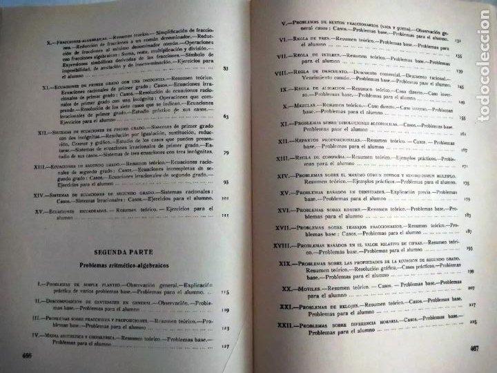 Libros de segunda mano de Ciencias: PROBLEMAS AUTODIDÁCTICOS. GRADO ELEMENTAL. ANTONIO INIESTA. AFRODISIO AGUADO, 1964. - Foto 6 - 277074068