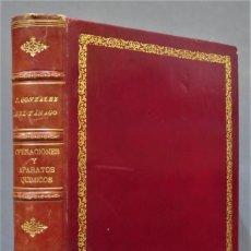 Libros de segunda mano de Ciencias: LAS OPERACIONES Y LOS APARATOS QUIMICOS. GONZALEZ DEL TANAGO Y ALEGRIA. DEDICADO A PERSONALIDAD. Lote 277081668