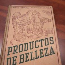 Libros de segunda mano: LIBRO PRODUCTOS DE BELLEZA (LIBRO ANTIGUO DE ESENCIAS). Lote 277086393