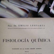 Libros de segunda mano de Ciencias: FISIOLOGÍA QUÍMICA PROF. LEHNARTZ. Lote 277137908