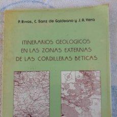 Livros em segunda mão: ITINERARIOS GEOLÓGICOS EN LAS ZONAS EXTERNAS DE LAS CORDILLERAS BÉTICAS 1979 P. RIVAS. Lote 277176523