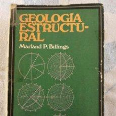 Livros em segunda mão: GEOLOGIA ESTRUCTURAL MARLAND P. BILLINGS 1963 EUDEBA EDITORIAL. Lote 277251908
