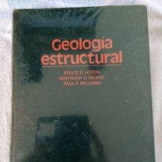 Libros de segunda mano: GEOLOGIA ESTRUCTURAL EDICIONES OMEGA BRUCE E. HOBBS 1981. Lote 277263478