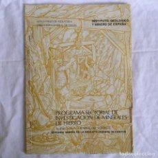 Libros de segunda mano: GEOLOGÍA MINERA HOJA 876, FUENTE DE CANTOS BADAJOZ, CON MAPA, INSTITUTO GEOLÓGICO. Lote 277624083
