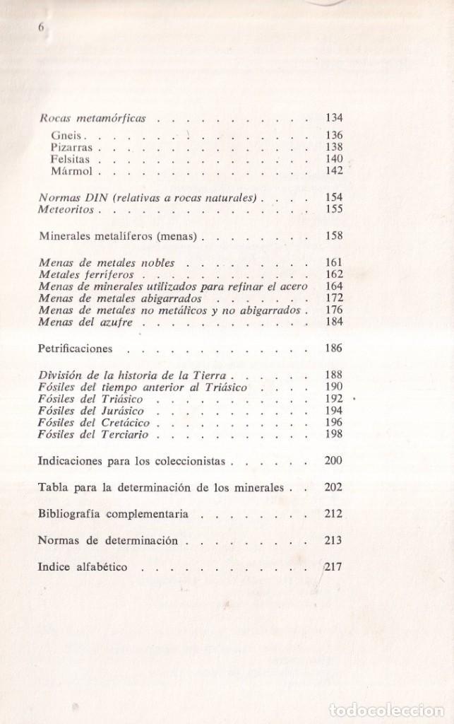 Libros de segunda mano: ROCAS Y MINERALES - WALTER SCHUMANN - EDITORIAL OMEGA 1974 - Foto 3 - 277745948