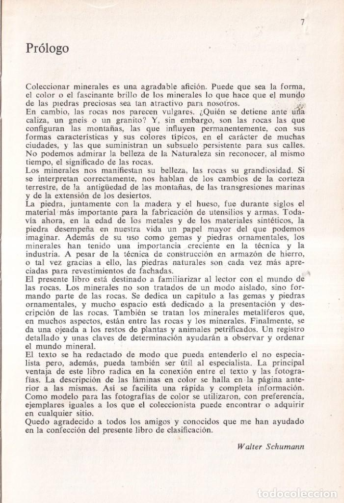Libros de segunda mano: ROCAS Y MINERALES - WALTER SCHUMANN - EDITORIAL OMEGA 1974 - Foto 4 - 277745948