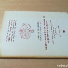 Libros de segunda mano: MODELIZACION EMPRESA PRODUCCION PORCINA / A SAEZ OLIVITO / UNIVERSIDAD ZARAGOZA / AL48. Lote 278628423