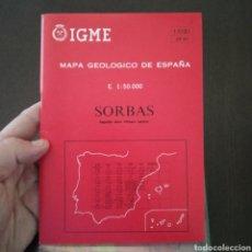 Libros de segunda mano: MAPA GEOLÓGICO ESPAÑA SORBAS 1031 MAGNA ESCALA 1:50.000. Lote 278762903