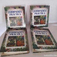Libros de segunda mano: JARDINERÍA PRÁCTICA ORBIS FABBRI CUATRO ARCHIVADORES CON FICHAS COMPLETA 1992. Lote 285120558