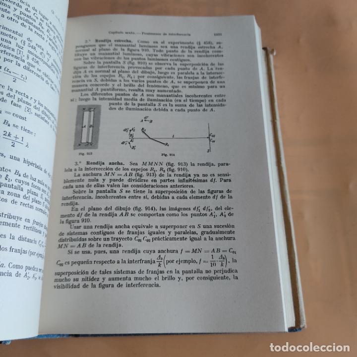 Libros de segunda mano de Ciencias: FISICA GENERAL Y EXPERIMENTAL.E.PERUCA. II.OPTICA,ELECTRICIDAD Y MAGNETISMO.ED LABOR.1948. 1936 PAGS - Foto 5 - 287057473