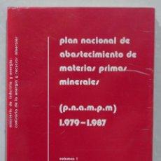 Libros de segunda mano: PLAN NACIONAL DE ABASTECIMIENTO DE MATERIAS PRIMAS MINERALES. 1979-1987. VOL. 1. Lote 287492778