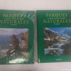 Libros de segunda mano: PARQUES Y ESPACIOS NATURALES PROTEGIDOS NATURALES DE ESPAÑA. SALVAT. PLASTIFICADOS. Lote 287990328
