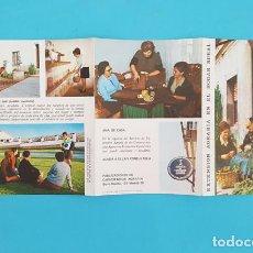 Libros de segunda mano: FOLLETO TRIPTICO EXTENSION AGRARIA EN EL HOGAR RURAL, MINISTERIO AGRICULTURA 1969. Lote 288221773