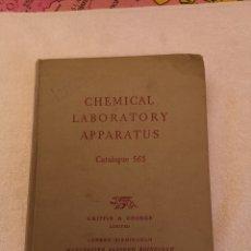 Libros de segunda mano de Ciencias: CHEMICAL LABORATORY APPARATUS CATALOGUE 56S. Lote 288371293