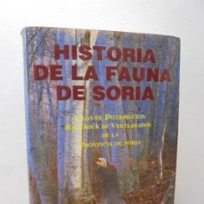 Libros de segunda mano: HISTORIA DE LA FAUNA DE SORIA. ATLAS DE DISTRIBUCION HISTORICA DE VERTEBRADOS DE LA PROVINCIA SORIA. Lote 288985478