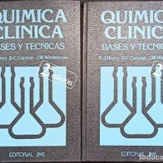 Libros de segunda mano de Ciencias: QUÍMICA CLÍNICA: BASES Y TÉCNICAS, R.J. HENRY, D.C. CANNON, J.W. WINKELMAN TOMOS 1 Y 2.. Lote 289321748