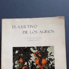 Libros de segunda mano: EL CULTIVO DE LOS AGRIOS, E. GONZALEZ SICILIA, INSTITUTO NACIONAL INVESTIGACION AGRONOMICA, 1963. Lote 289480168