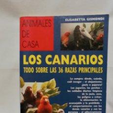 Libros de segunda mano: LOS CANARIOS TODO SOBRE LAS 36 RAZAS PRINCIPALES. Lote 289508223
