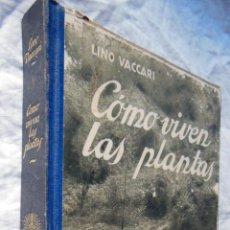 Libros de segunda mano: COMO VIVEN LAS PLANTAS. 1930 LINO VACCARI. Lote 289715983