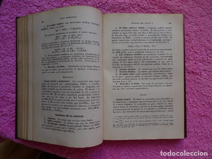 Libros de segunda mano de Ciencias: análisis químico cualitativo manuel marin 1944 luis curtman 3ª edición - Foto 8 - 290087978