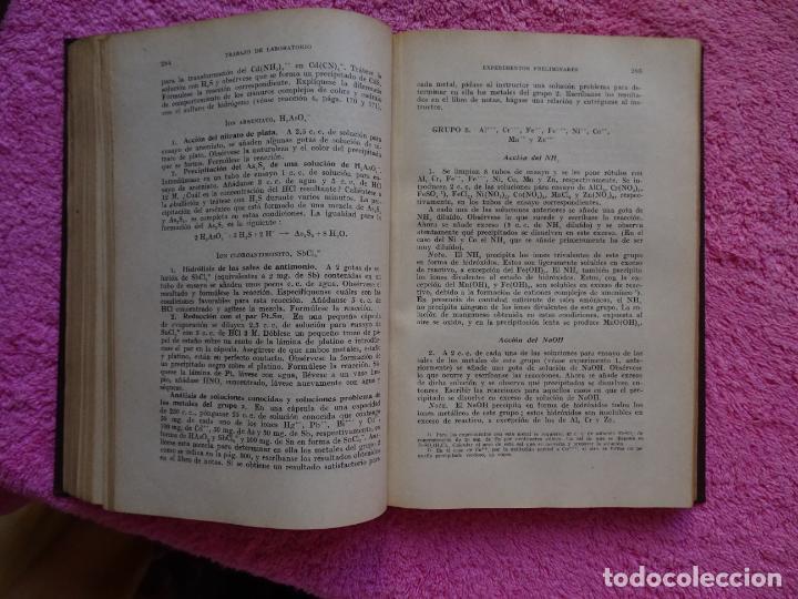 Libros de segunda mano de Ciencias: análisis químico cualitativo manuel marin 1944 luis curtman 3ª edición - Foto 10 - 290087978