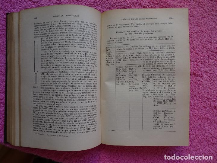 Libros de segunda mano de Ciencias: análisis químico cualitativo manuel marin 1944 luis curtman 3ª edición - Foto 11 - 290087978