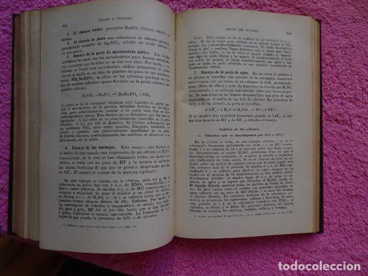 Libros de segunda mano de Ciencias: análisis químico cualitativo manuel marin 1944 luis curtman 3ª edición - Foto 12 - 290087978