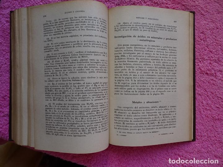Libros de segunda mano de Ciencias: análisis químico cualitativo manuel marin 1944 luis curtman 3ª edición - Foto 13 - 290087978