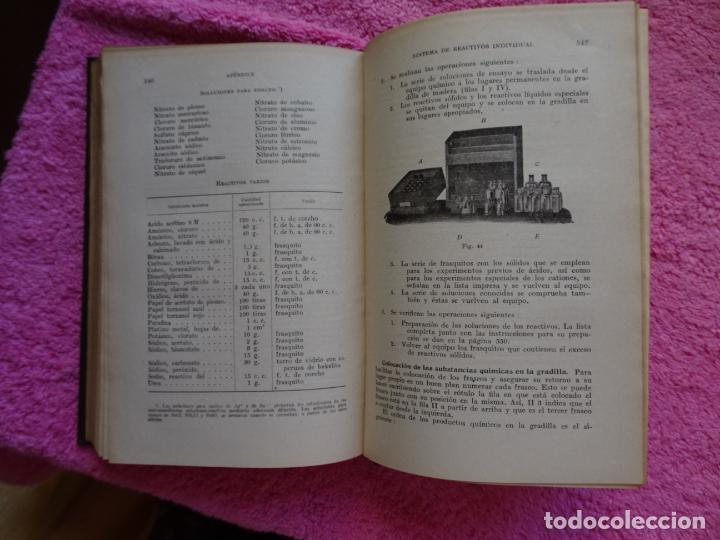 Libros de segunda mano de Ciencias: análisis químico cualitativo manuel marin 1944 luis curtman 3ª edición - Foto 15 - 290087978