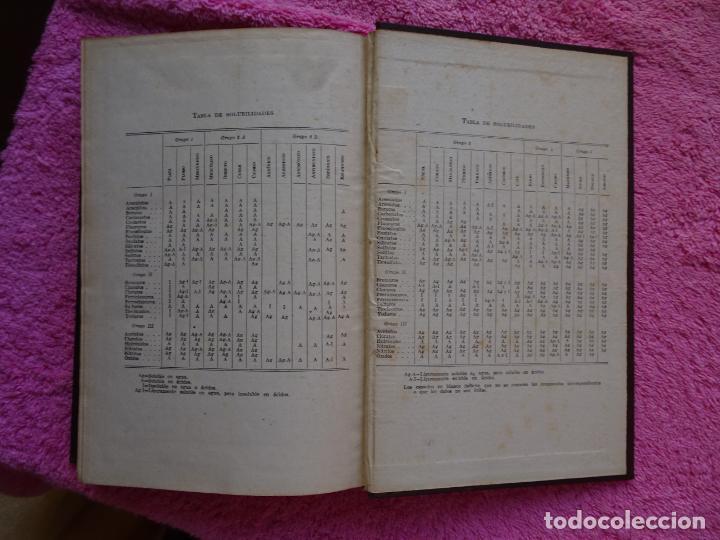 Libros de segunda mano de Ciencias: análisis químico cualitativo manuel marin 1944 luis curtman 3ª edición - Foto 17 - 290087978