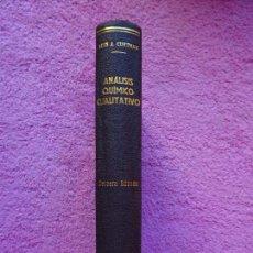 Libros de segunda mano de Ciencias: ANÁLISIS QUÍMICO CUALITATIVO MANUEL MARIN 1944 LUIS CURTMAN 3ª EDICIÓN. Lote 290087978