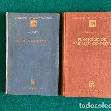 Libros de segunda mano de Ciencias: SERIES INFINITAS (J.H. HYSLOP) FUNCIONES DE VARIABLE COMPLEJA8 (E.G. PHILIPS). ED.DOSSAT(UNIVERSITY). Lote 290090898